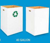CORRUGATED TRASH CANS 40 GAL..