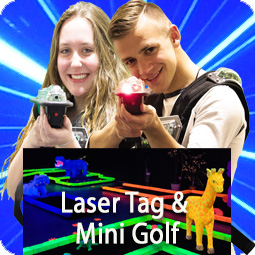 laser tag and mini golf package