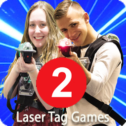 2 games of laser tag