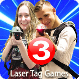 3 Games of Laser Tag