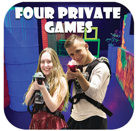 Four Private Laser Tag Games
