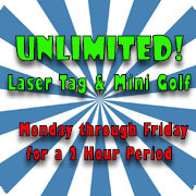 Unlimited Laser Tag and Golf
