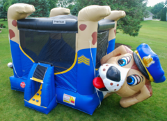 Police Dog Belly Bounce House