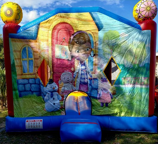 4in1 Doc McStuffings Bounce House Combo (Wet/Dry)