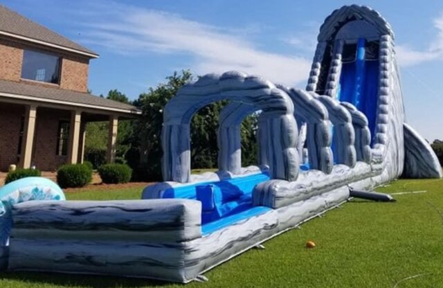 36' Raging Falls Double Water Slide