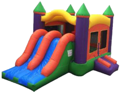 SALE!!! Kids 2 LANE Bouncer & Slide ( DRY) Combo
