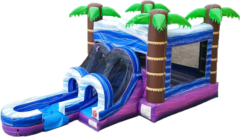 WET COMBO / Tropical Island Bouncer & Slide Combo