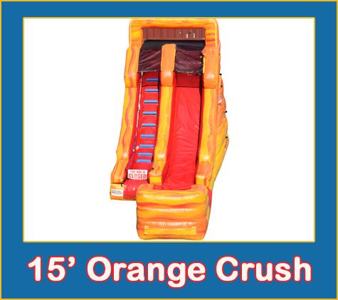 15 Orange Crush Water Slide Rental Sarasota Bradenton