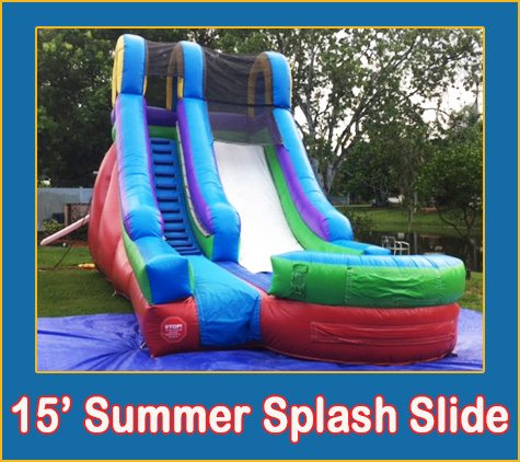 15 Summer Splash Slide Inflatable Bounce House Party