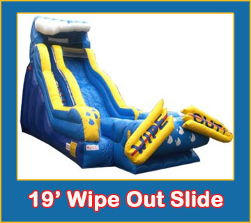 Wipe Out Water Slide Combo Bounce House Rental from Lets Jump Events