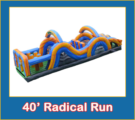 40ft Radical Run Combo Bounce House Rental from Lets Jump Events
