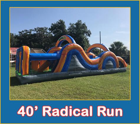 Radical Run Obstacle Course Bounce House Rental Sarassota Bradenton Palmetto PArrish