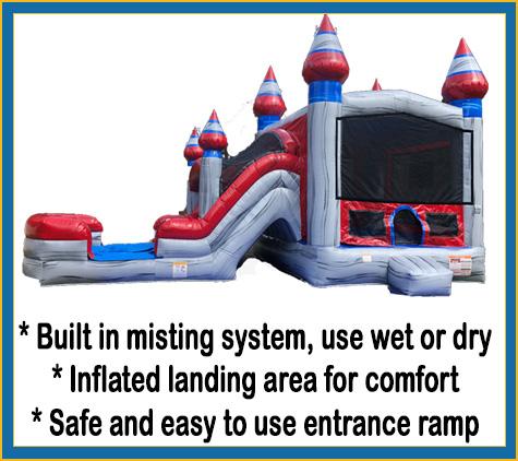 Arctic Bounce House Combo Rental Sarasota Bradenton Parrish Palmetto Rentals Slide Features