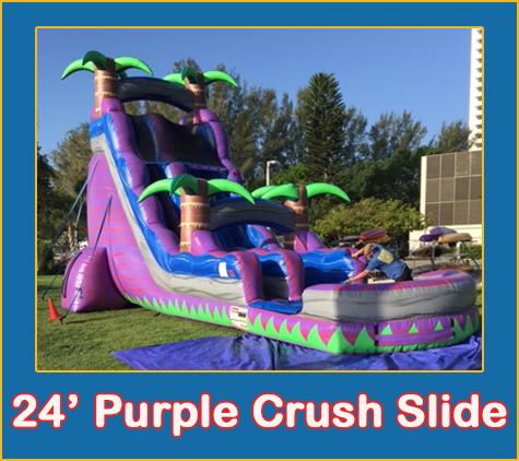 Bradenton Water Slide Rentals Purple Crush Lets Jump Events