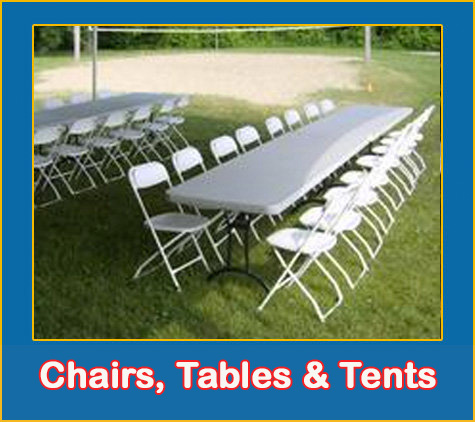 Chair Table and Tent Rentals From Lets Jump Events Rentals Sarasota Bradenton Palmetto Parrish