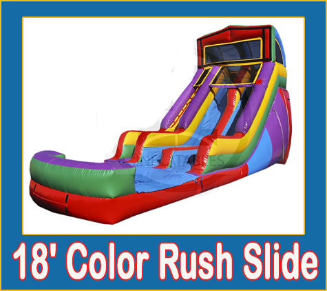Color Rush Water Slide Combo Bounce House Rental from Lets Jump Events