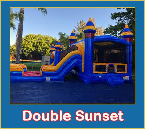 Double Sunset Bounce House Rental Sarasota Bradenton