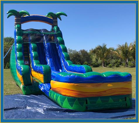 20' Emerald Oasis Dual Lane Water Slide Rental Sarasota Bradenton