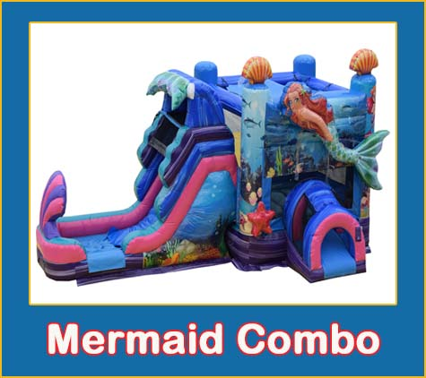 Mermaid Combo Bounce House Rental from Lets Jump Events