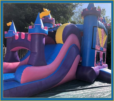 Princess Castle Combo Bounce House Water Slide Rental Bradenton Sarasota