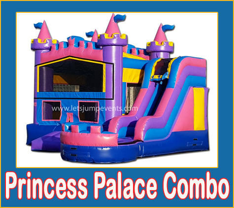 Princess Combo Bounce House Rental from Lets Jump Events