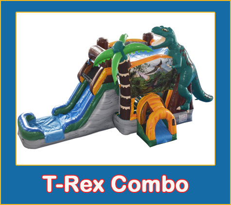 TRex Combo Bounce House Rental from Lets Jump Events