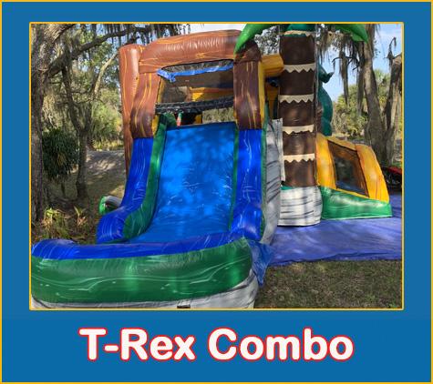 TRex Bounce House Combo Rental Sarasota Bradenton Parrish