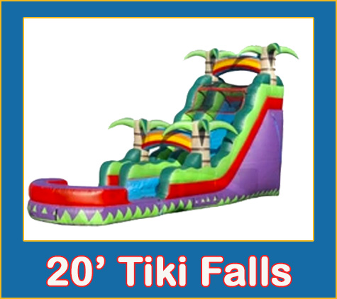 Tiki FallsWater Slide Combo Bounce House Rental from Lets Jump Events