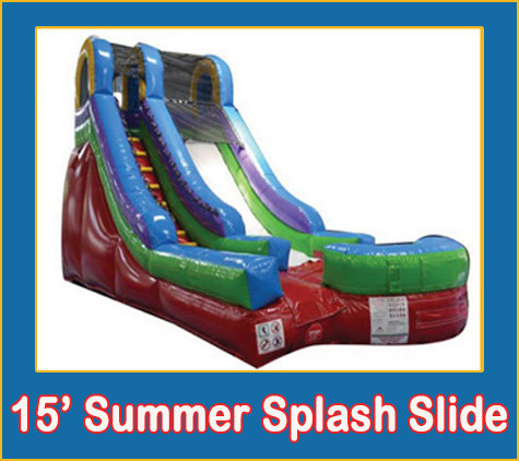 15' Summer Splash Slide