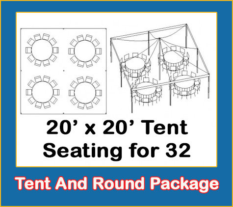 20' x 20' Tent And Round Tables Package