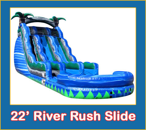 22' River Rush Dual Lane Slide