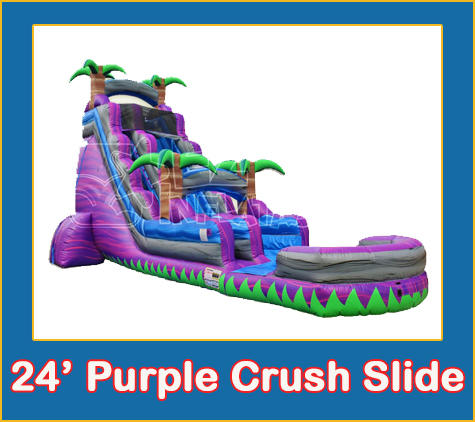 Purple Crush Water Slide Inflatable Bounce House Party