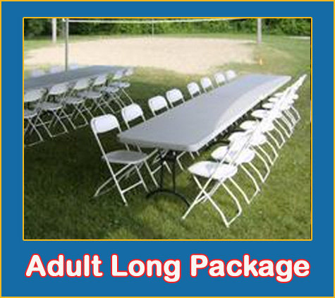 Adult Long Table and Chairs Package
