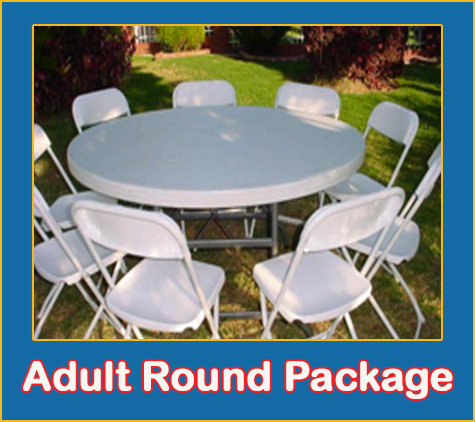 Adult Round Table and Chair Package
