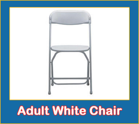 Adult White Folding Chair