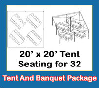20' x 20' Tent And Banquet Tables Package