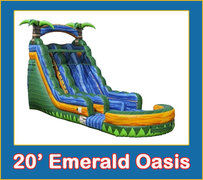 20' Emerald Oasis Dual Lane Slide