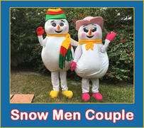 Snow Men Couple VIsit