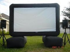 Movie Screen W/AV Equipment