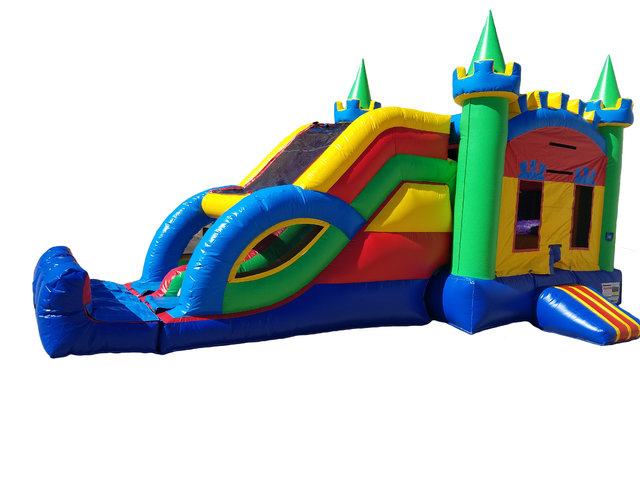 Colorful Double Slide Castle