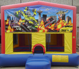 Robot Cars Panel Bounce House