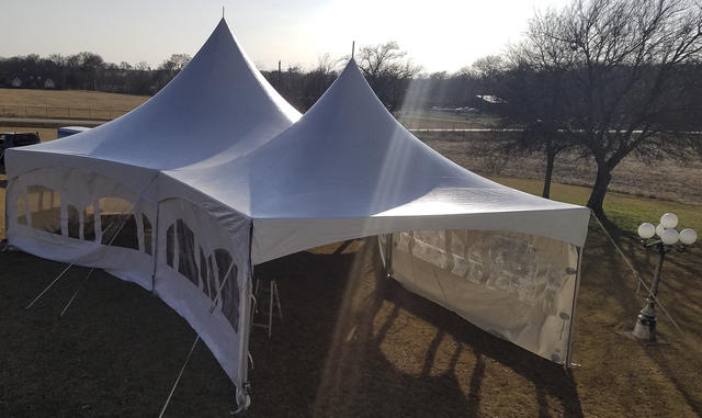 40' Hexagaon with 20'x20' Tent