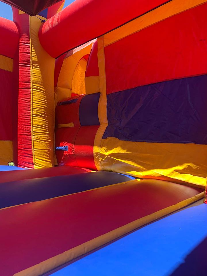 obstacle course inside liberty party jumpers