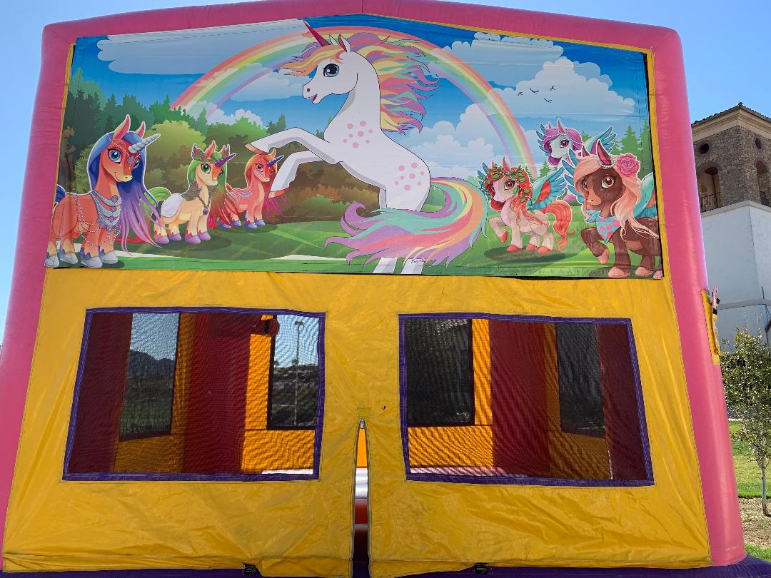 unicorn 13x13 bounce house las vegas nevada inflatable jumper