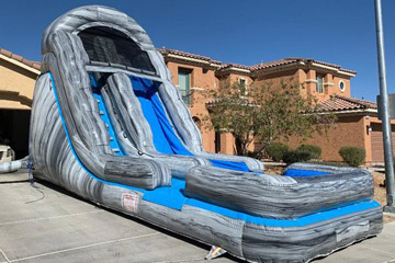 18 water slide with pool