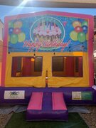 Happy Birthday Pink Bounce House
