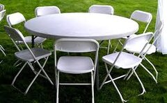 "60"" round Table & chairs"