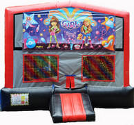 It's a Girl Thing Red/Black/Gray Module Bounce House