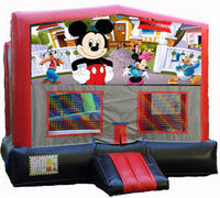 Mickey Mouse Red/Black/Gray Module Bounce House