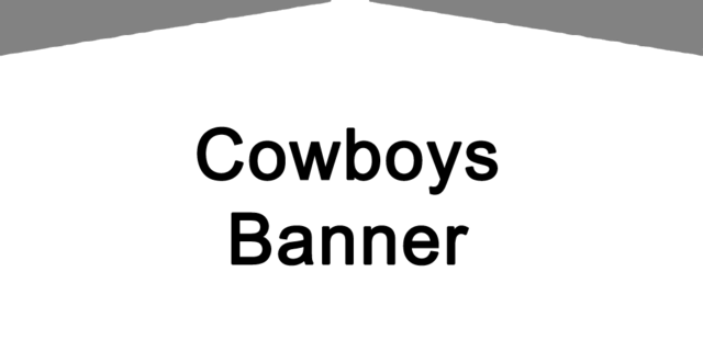 Dallas Cowboys Banner